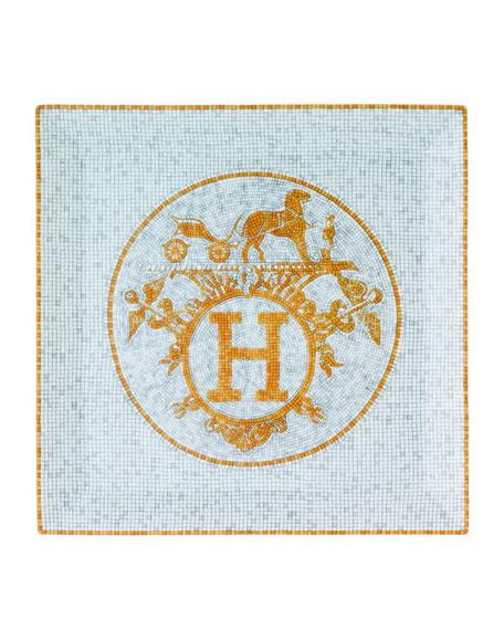 Hermès Mosaique au 24 Gold Square Plate #5