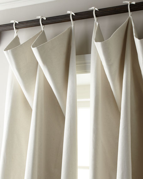 "Image 1 of 1: Each 108""L Tie-Top Curtain"