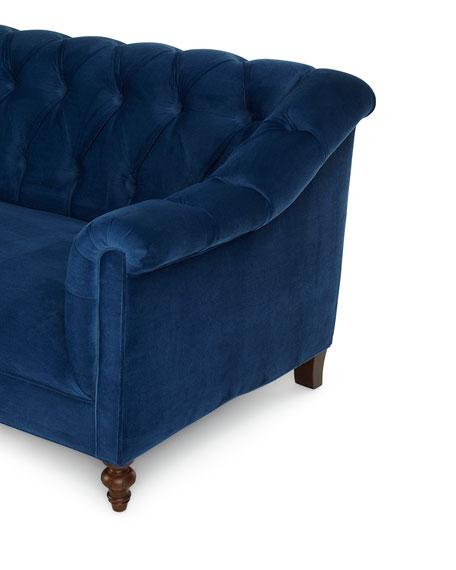 """Haute House Raina Tufted Velvet Sofa 84"""""""