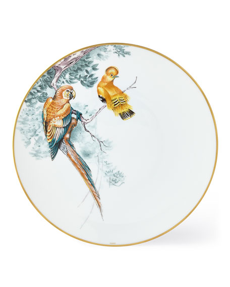 Hermès Carnets d' Equateur Birds Dinner Plate