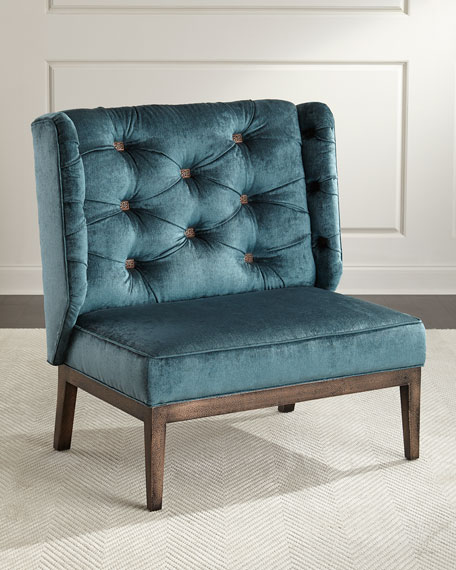 Image 1 of 3: Old Hickory Tannery Zaza Tufted-Back Chair