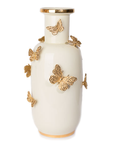 Jay Strongwater Heather Butterfly Vase