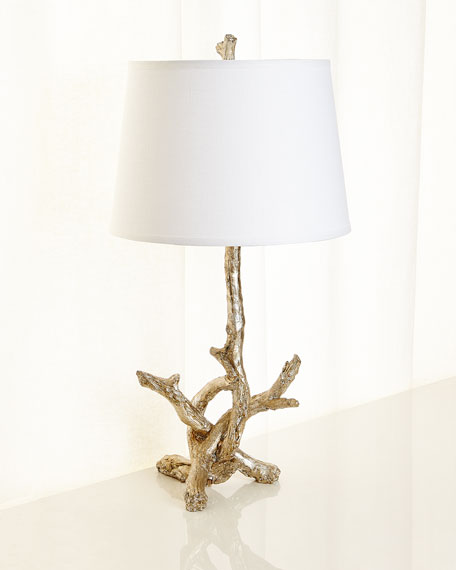 Jamie Young Silver Leaf Branch Lamp