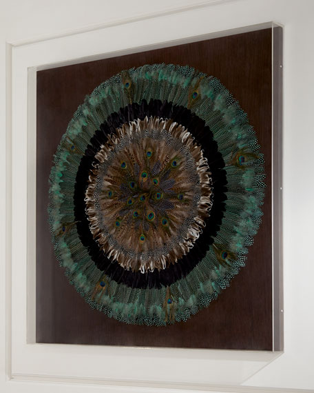 Peacock Feather Circle Wall Decor