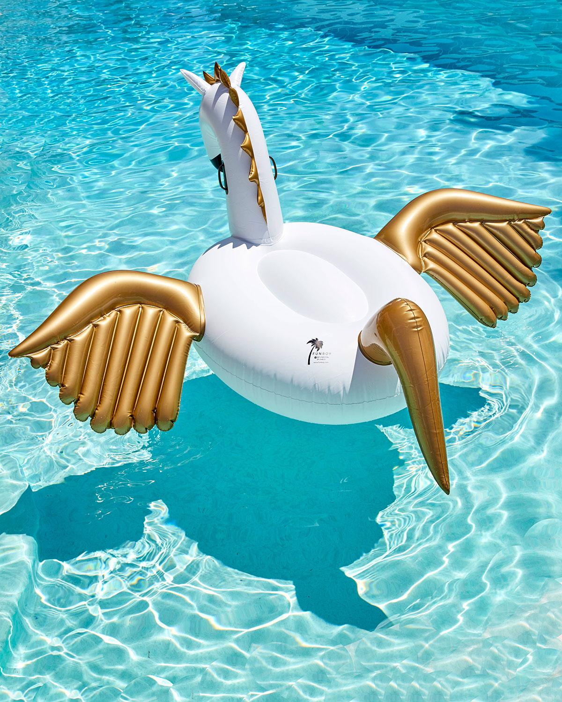 Funboy Pegasus Giant Pool Float White Golden Neiman Marcus