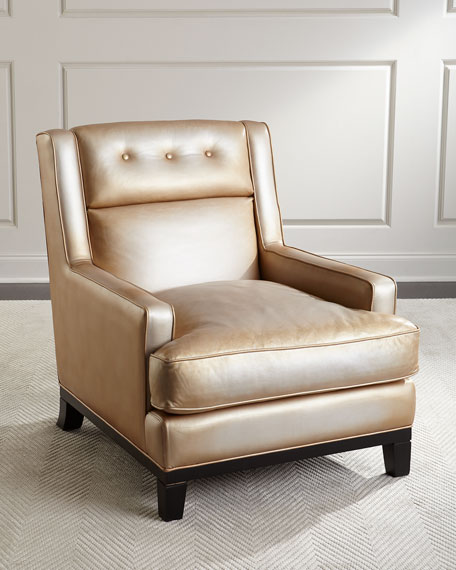 The Eleanor Rigby Leather Company Quinn Metallic Leather Chair