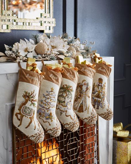 Santa Needlepoint Stocking