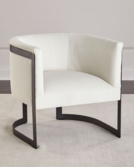 Zalina Leather Accent Chair