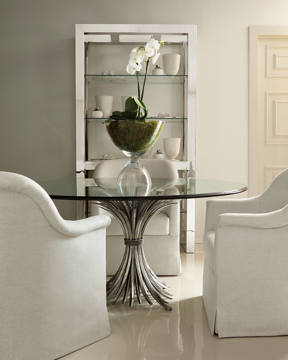 """Dining Room Tables Nyc: Bernhardt Gwinn 54"""" Glass-Top Dining Table"""