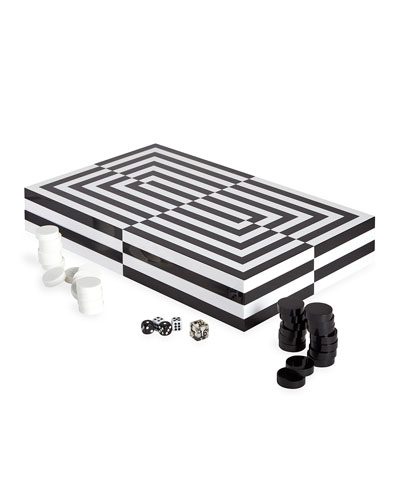 Optical Illusion Art Backgammon Set
