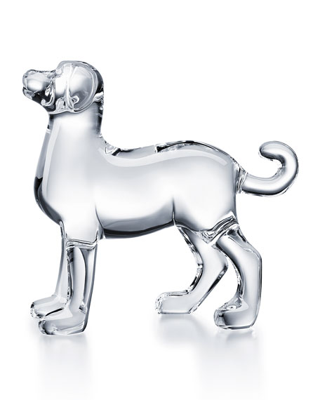 Baccarat Zodiac Dog Figurine, Clear