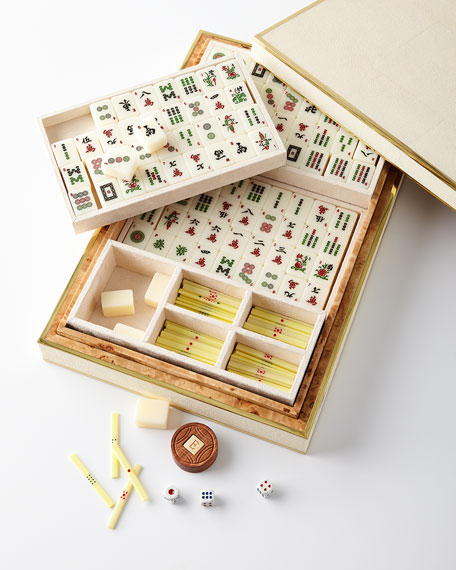 Faux-Shagreen Mahjong Set
