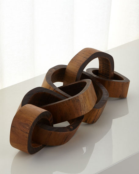 Regina Andrew Design Wooden Links Centerpiece