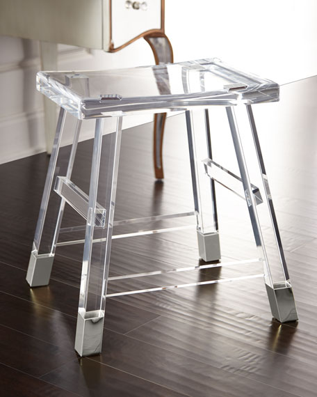 Darnell Acrylic Vanity Seat