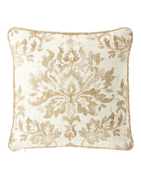 "Vanessa Corded Pillow, 18""Sq."