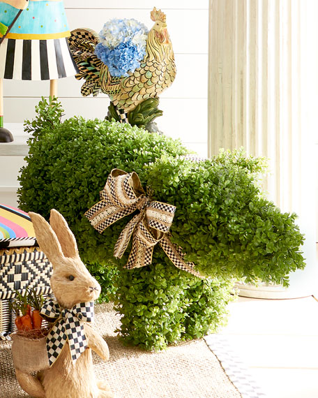 MacKenzie-Childs Outdoor Pig Topiary