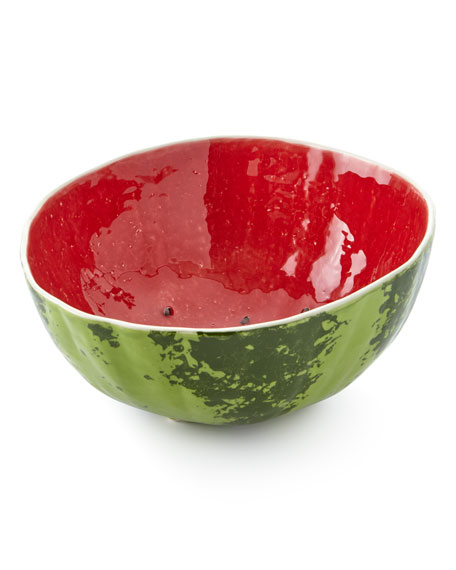 "Bordallo Pinheiro Watermelon Salad Bowl, 11"" Dia."