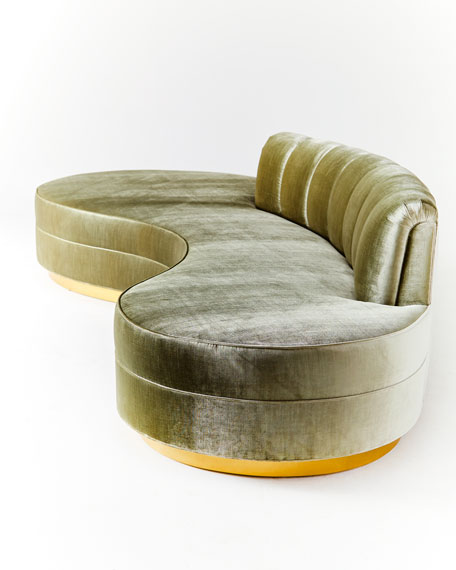 Layla Chanel Tufted Curved Sofa