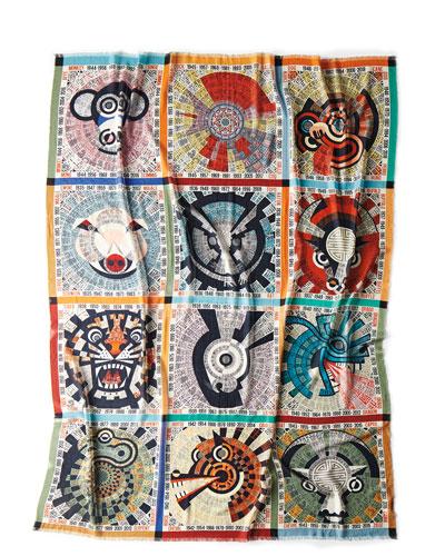 Oroscopo Wool Gauze Throw Blanket, 55