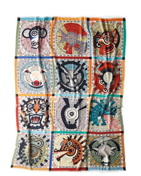 "Oroscopo Wool Gauze Throw Blanket, 55"" x 70"""