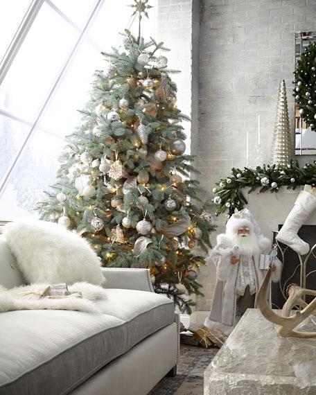 "Silver and White Santa, 36"""