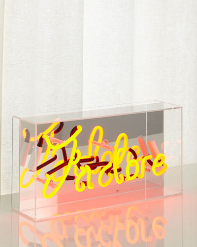 J'adore Acrylic Box Neon Sign
