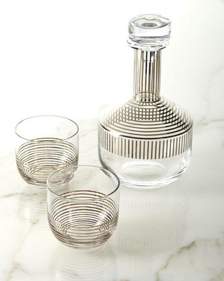 Tom Dixon Tank Platinum Stripe Whiskey Set