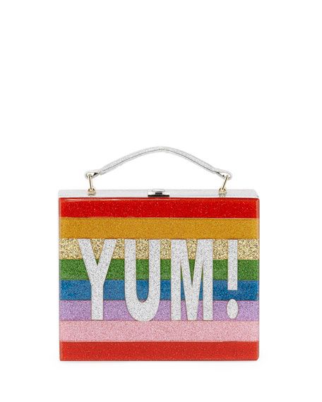 Bari Lynn Yum Rainbow Acrylic Lunch Box