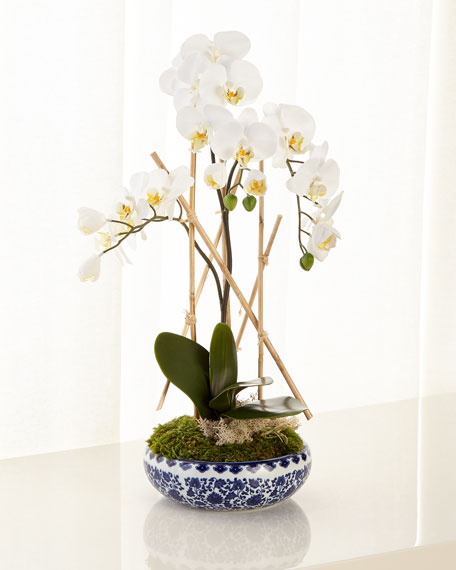 John-Richard Collection Flow Blue Floral Arrangement