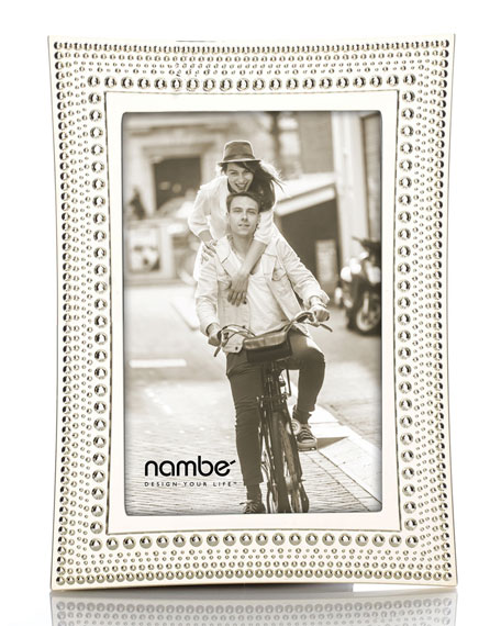 "Nambe Beaded Picture Frame, 4"" x 6"""