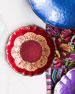 Vietri Pastel Glass Salad Plate, Red