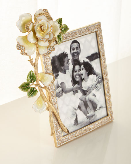 """Jay Strongwater Rose Frame, 5"""" x 7"""""""