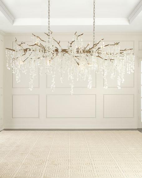 John-Richard Collection Shiro Noda 15-Light Glass Chandelier