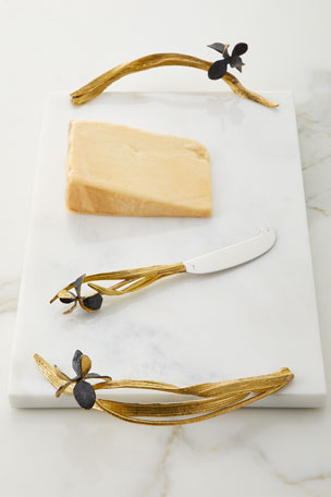 Michael Aram Black Iris Large Cheese Board with Knife