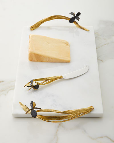 Black Iris Large Cheese Board with Knife