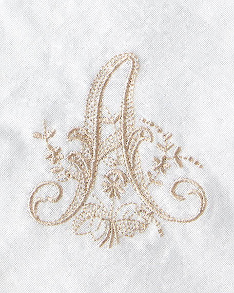 Boutross Imports Initial Monogram Cocktail Napkins, Set of 6