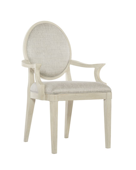 Bernhardt East Hampton Oval Back Arm Chairs, Set of 2