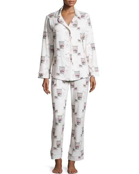 Bedhead Girl On Scooter Printed Pajama Set