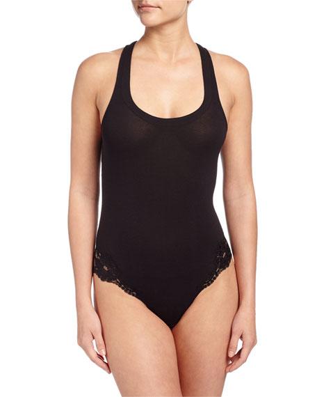 La Perla Souple Lace-Trimmed Bodysuit