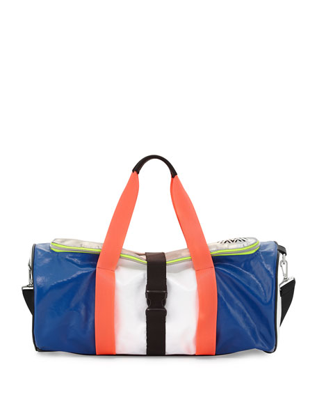 Monreal London Warrior Colorblock Gym Bag, Azure