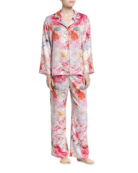 Natori Autumn Notch Pajama Set, Multicolor