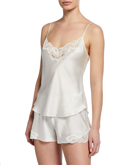 Christine Lingerie Bijoux Short Silk Pajama Set