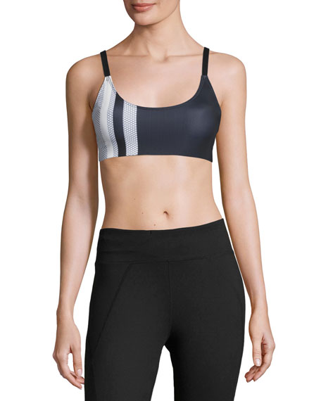 Onzie Graphic Elastic Low-Impact Sports Bra