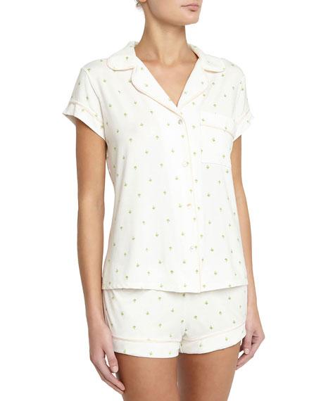 Eberjey Giving Palm Short Pajama Set