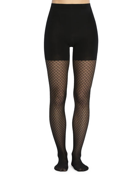Spanx Honeycomb Fishnet Control-Top Tights