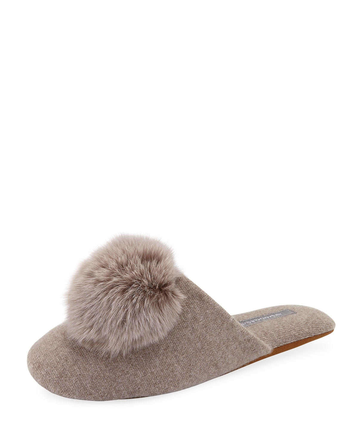 NEW LOOK LADIES CREAM KNITTED FUR FABRIC LINED SLIPPERS SIZE LARGE NEW