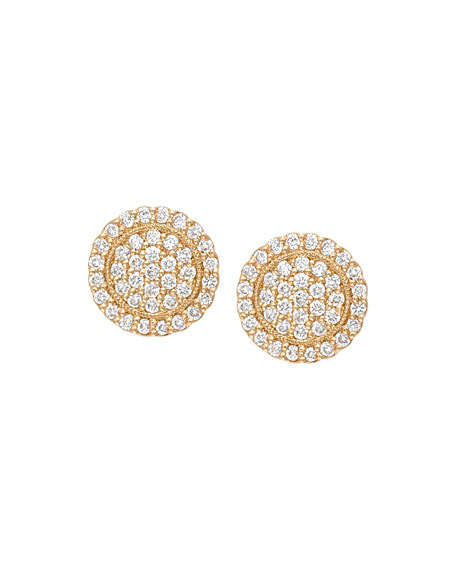Jamie Wolf Scalloped Pave Diamond Stud Earrings