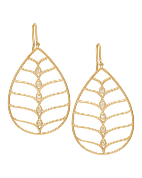 Jamie Wolf 18k Gold Diamond Pear Earrings