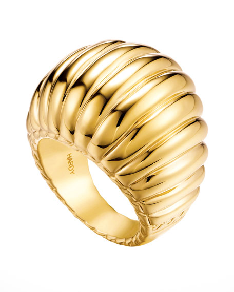 Bedeg 18k Gold Dome Ring