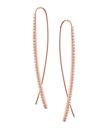 Lana Reckless Narrow Upside Down Hoop Earrings in